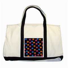 A Tilable Birthday Cake Party Background Two Tone Tote Bag