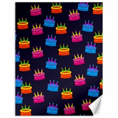A Tilable Birthday Cake Party Background Canvas 12  x 16