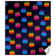 A Tilable Birthday Cake Party Background Canvas 20  x 24