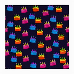 A Tilable Birthday Cake Party Background Medium Glasses Cloth (2-Side)