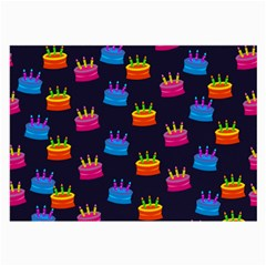 A Tilable Birthday Cake Party Background Large Glasses Cloth