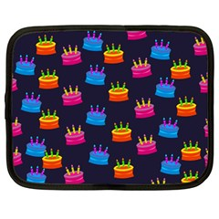 A Tilable Birthday Cake Party Background Netbook Case (large)