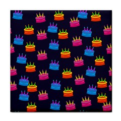 A Tilable Birthday Cake Party Background Face Towel