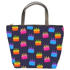 A Tilable Birthday Cake Party Background Bucket Bags
