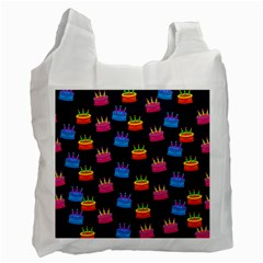 A Tilable Birthday Cake Party Background Recycle Bag (Two Side)