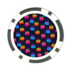 A Tilable Birthday Cake Party Background Poker Chip Card Guard (10 pack)