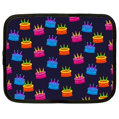 A Tilable Birthday Cake Party Background Netbook Case (XL)