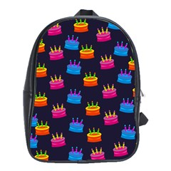 A Tilable Birthday Cake Party Background School Bags(Large)