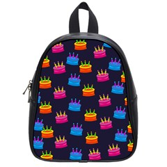 A Tilable Birthday Cake Party Background School Bags (Small)