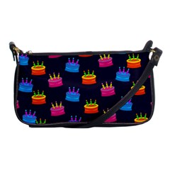 A Tilable Birthday Cake Party Background Shoulder Clutch Bags