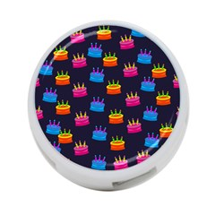 A Tilable Birthday Cake Party Background 4-Port USB Hub (One Side)
