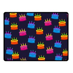 A Tilable Birthday Cake Party Background Fleece Blanket (Small)