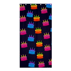 A Tilable Birthday Cake Party Background Shower Curtain 36  x 72  (Stall)