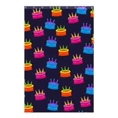 A Tilable Birthday Cake Party Background Shower Curtain 48  x 72  (Small)
