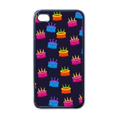 A Tilable Birthday Cake Party Background Apple Iphone 4 Case (black)