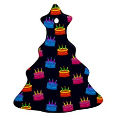 A Tilable Birthday Cake Party Background Ornament (christmas Tree)
