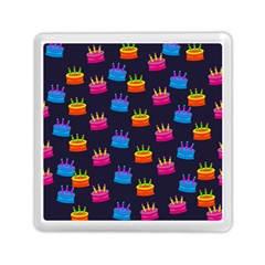 A Tilable Birthday Cake Party Background Memory Card Reader (square)