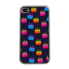 A Tilable Birthday Cake Party Background Apple iPhone 4 Case (Clear)
