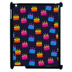 A Tilable Birthday Cake Party Background Apple iPad 2 Case (Black)