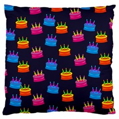 A Tilable Birthday Cake Party Background Large Cushion Case (one Side)