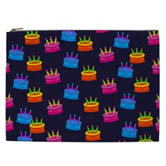 A Tilable Birthday Cake Party Background Cosmetic Bag (XXL)