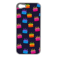 A Tilable Birthday Cake Party Background Apple Iphone 5 Case (silver)