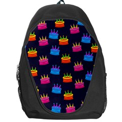 A Tilable Birthday Cake Party Background Backpack Bag