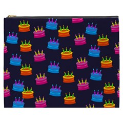 A Tilable Birthday Cake Party Background Cosmetic Bag (XXXL)