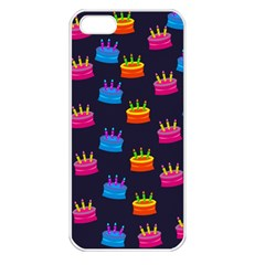 A Tilable Birthday Cake Party Background Apple Iphone 5 Seamless Case (white)