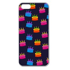 A Tilable Birthday Cake Party Background Apple Seamless iPhone 5 Case (Clear)