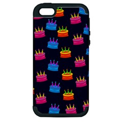 A Tilable Birthday Cake Party Background Apple Iphone 5 Hardshell Case (pc+silicone)