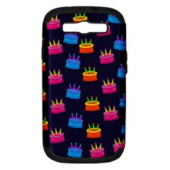 A Tilable Birthday Cake Party Background Samsung Galaxy S Iii Hardshell Case (pc+silicone)