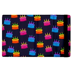 A Tilable Birthday Cake Party Background Apple Ipad 3/4 Flip Case
