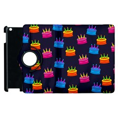 A Tilable Birthday Cake Party Background Apple iPad 3/4 Flip 360 Case