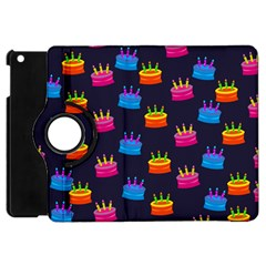 A Tilable Birthday Cake Party Background Apple iPad Mini Flip 360 Case