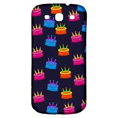 A Tilable Birthday Cake Party Background Samsung Galaxy S3 S Iii Classic Hardshell Back Case