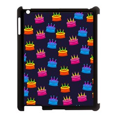 A Tilable Birthday Cake Party Background Apple iPad 3/4 Case (Black)