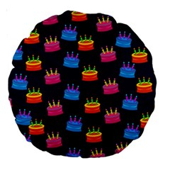 A Tilable Birthday Cake Party Background Large 18  Premium Round Cushions