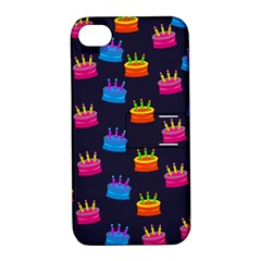 A Tilable Birthday Cake Party Background Apple iPhone 4/4S Hardshell Case with Stand