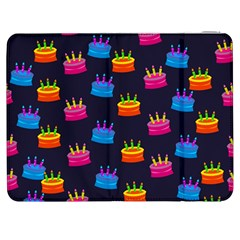 A Tilable Birthday Cake Party Background Samsung Galaxy Tab 7  P1000 Flip Case