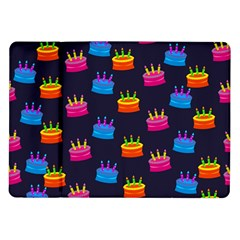 A Tilable Birthday Cake Party Background Samsung Galaxy Tab 10.1  P7500 Flip Case