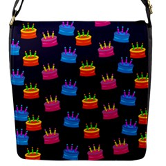 A Tilable Birthday Cake Party Background Flap Messenger Bag (S)