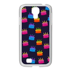 A Tilable Birthday Cake Party Background Samsung GALAXY S4 I9500/ I9505 Case (White)