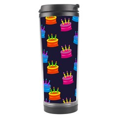 A Tilable Birthday Cake Party Background Travel Tumbler