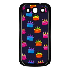 A Tilable Birthday Cake Party Background Samsung Galaxy S3 Back Case (Black)
