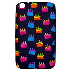 A Tilable Birthday Cake Party Background Samsung Galaxy Tab 3 (8 ) T3100 Hardshell Case