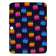A Tilable Birthday Cake Party Background Samsung Galaxy Tab 3 (10.1 ) P5200 Hardshell Case