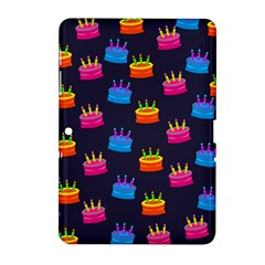 A Tilable Birthday Cake Party Background Samsung Galaxy Tab 2 (10.1 ) P5100 Hardshell Case