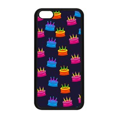 A Tilable Birthday Cake Party Background Apple iPhone 5C Seamless Case (Black)