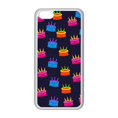 A Tilable Birthday Cake Party Background Apple iPhone 5C Seamless Case (White)